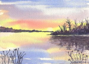 Landscape, Sunset, and Moonrise Watercolor Painting Techniques @ Oswego Civic Arts Center