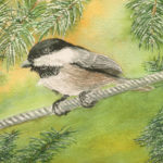 Acrobatic Black-capped Chickadee: Watercolor Painting Techniques @ Oswego Civic Arts Center