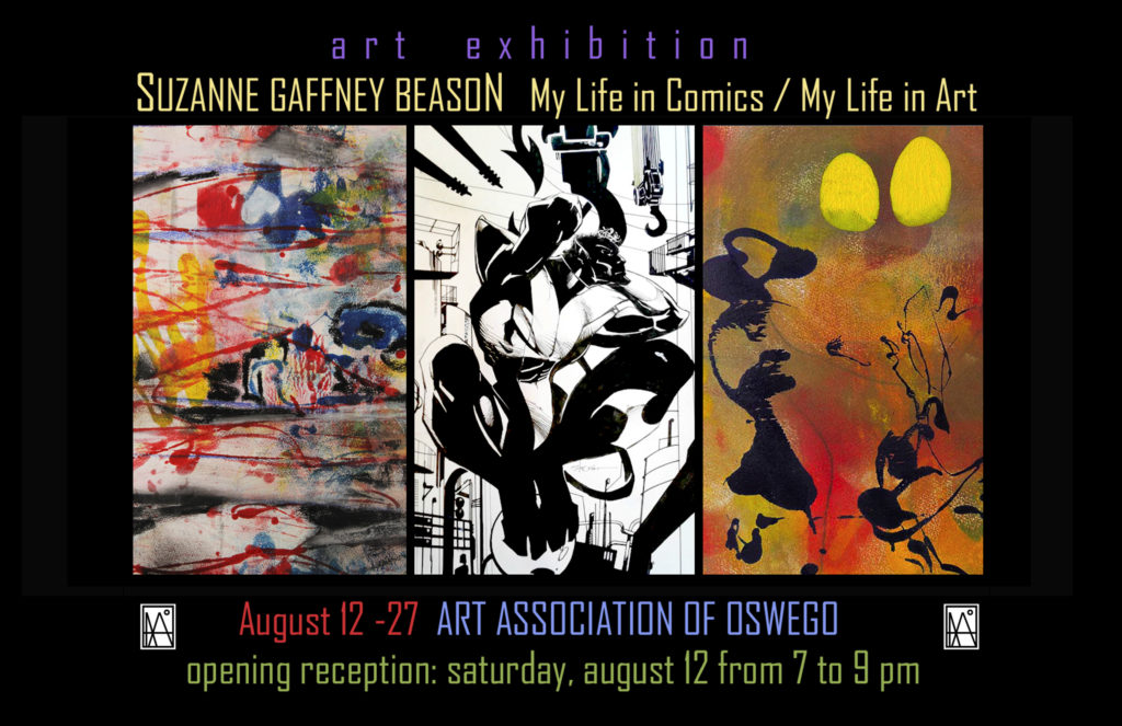 Exhibition: My Life in Comics / My Life in Art by Suzanne Gaffney Beason @ Art Association of Oswego, Inc. | Oswego | New York | United States